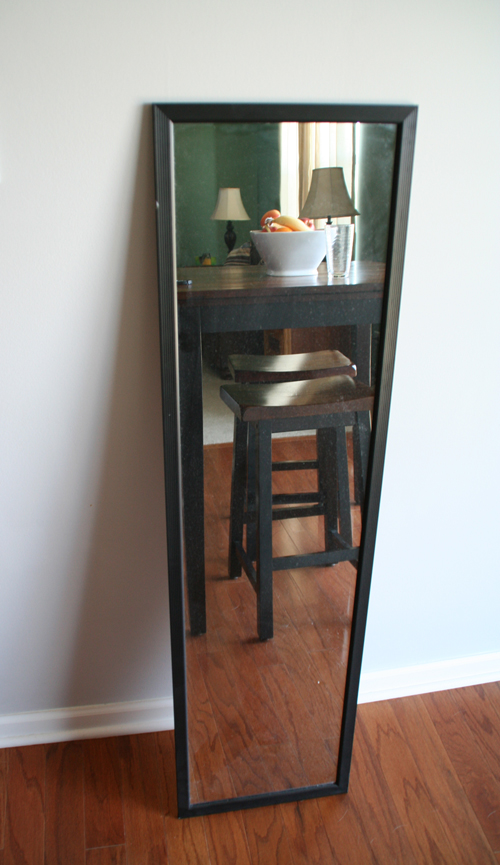 Re-frame a cheap full length mirror