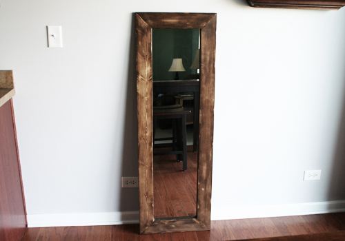 Re frame a cheap full length mirror diywithrick for Inexpensive framed mirrors