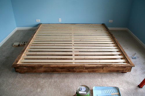 Build a king sized platform bed diywithrick for Make your own bed frame ideas