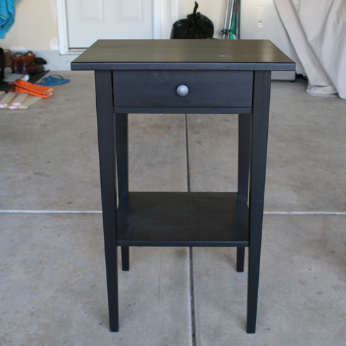 refinish an ikea hemnes nightstand diywithrick. Black Bedroom Furniture Sets. Home Design Ideas