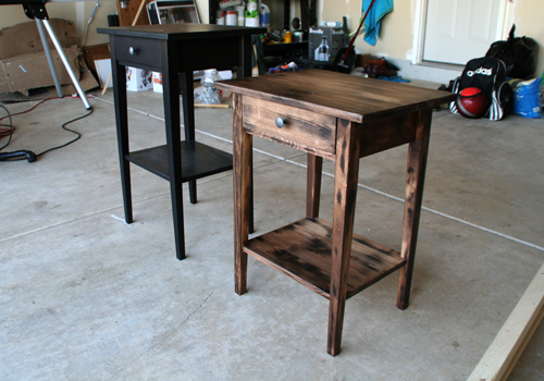refinish an ikea hemnes nightstand - diywithrick Ikea Nightstand