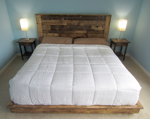 Build a King-Sized Pallet Headboard - DIYwithRick