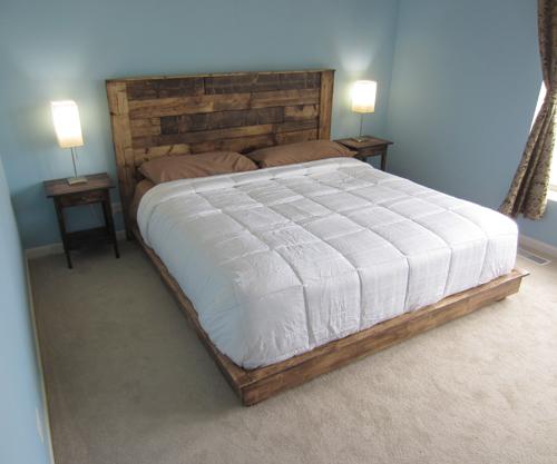 wooden flooring king size headboard ideas