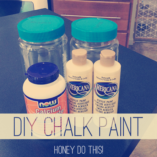 Ingredients for DIY Chalk Paint