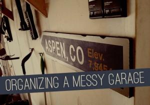 Organizing a MESSY Garage