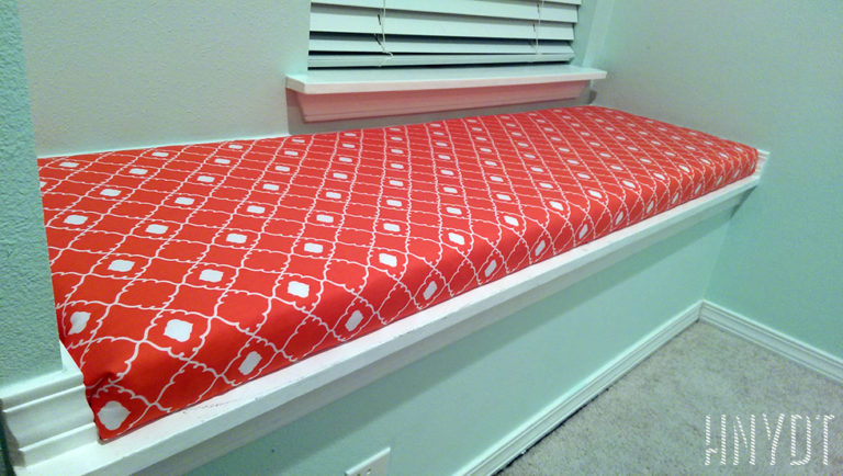 How to Make an Easy No-Sew Window Seat Cushion