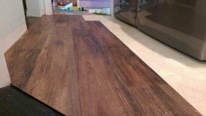 Peel and Stick Faux Wood Vinyl Flooring