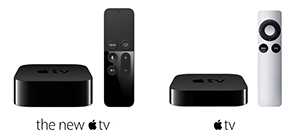 The new and current Apple TV