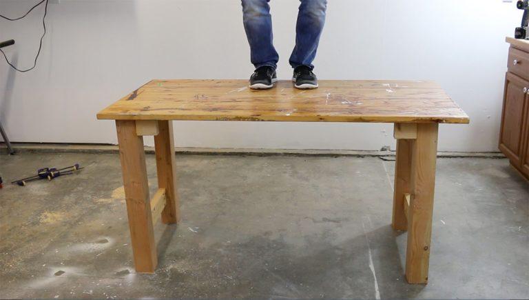 DIY Scrap Wood Workbench