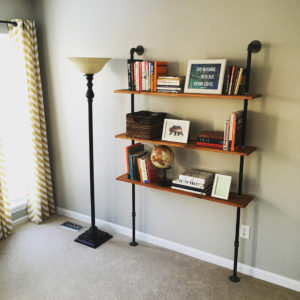 How to build an Industrial Pipe Shelving Unit