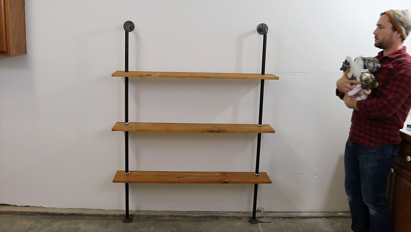 How to build an Industrial Pipe Shelving Unit DIYwithRick : maxresdefault 1 from diywithrick.com size 1432 x 808 jpeg 65kB