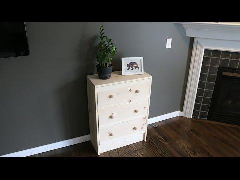 Build a 3 Drawer Dresser
