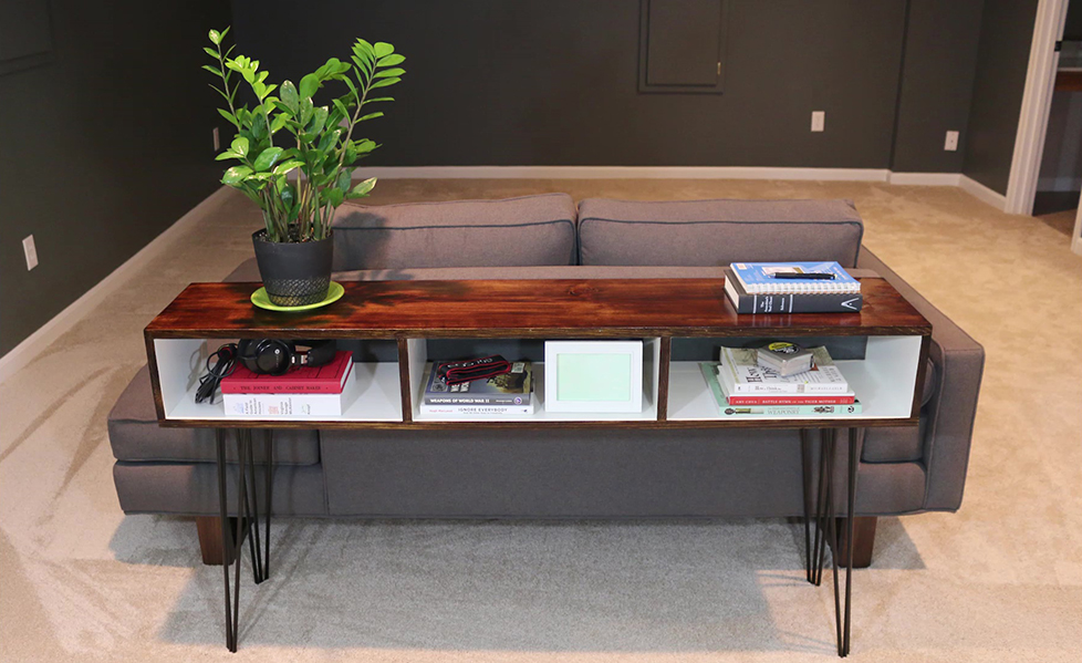 Build a Mid Century Modern Sofa Table - DIYwithRick