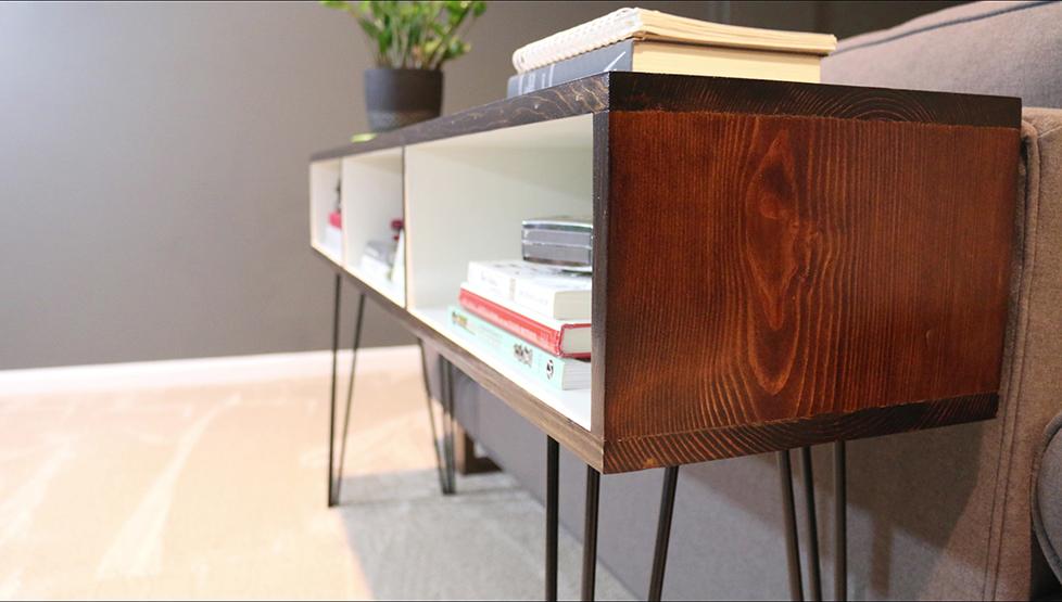 Build a Mid Century Modern Sofa Table - DIYwithRick