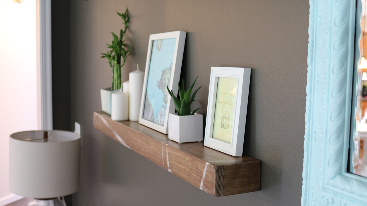 Build A Rustic Floating Shelf Diywithrick 1 Set Shelves Using Mental Fortitude I Out To Today Well It Doesnt Actually Floatthat Was Lie The Slides Over Bracket