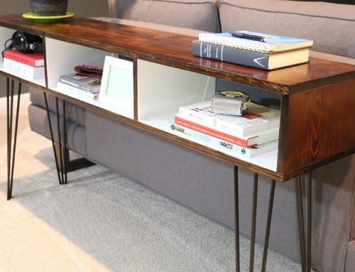 Build a Mid Century Modern Sofa Table