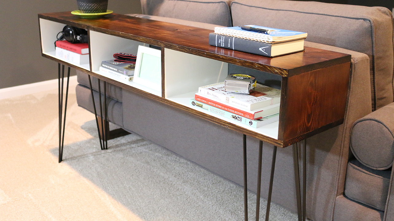 Build a Mid Century Modern Sofa Table | DIYwithRick
