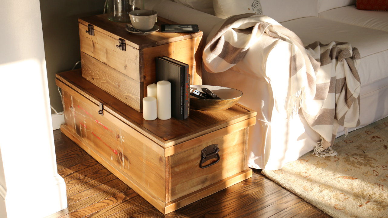 Build a Stacked Storage Chest End Table