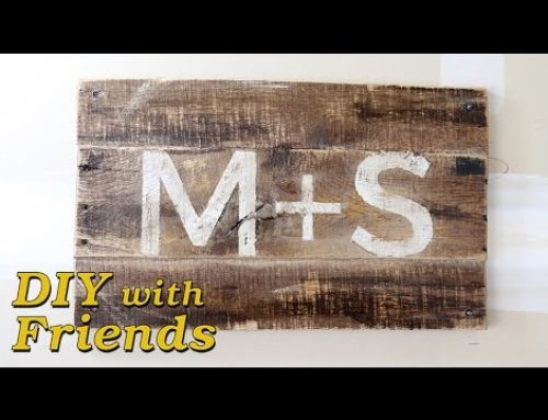 Rustic Sign from Reclaimed Pallet Wood