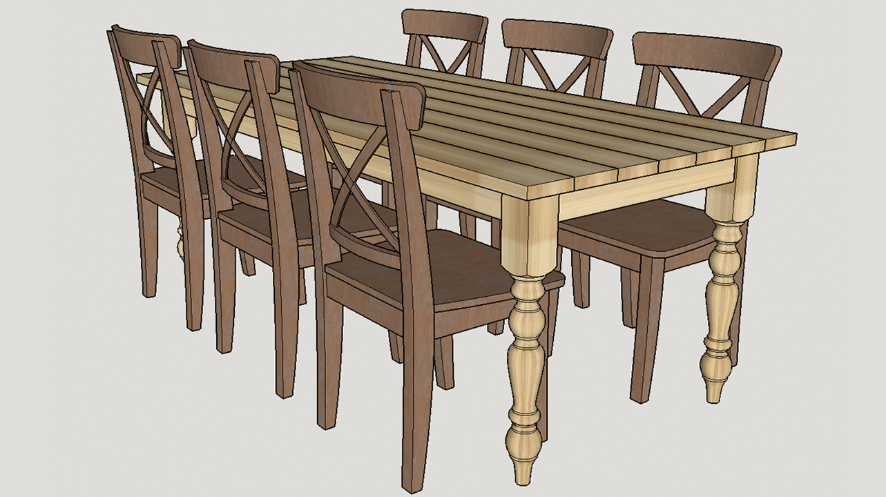 Designing a 7ft Dining Table