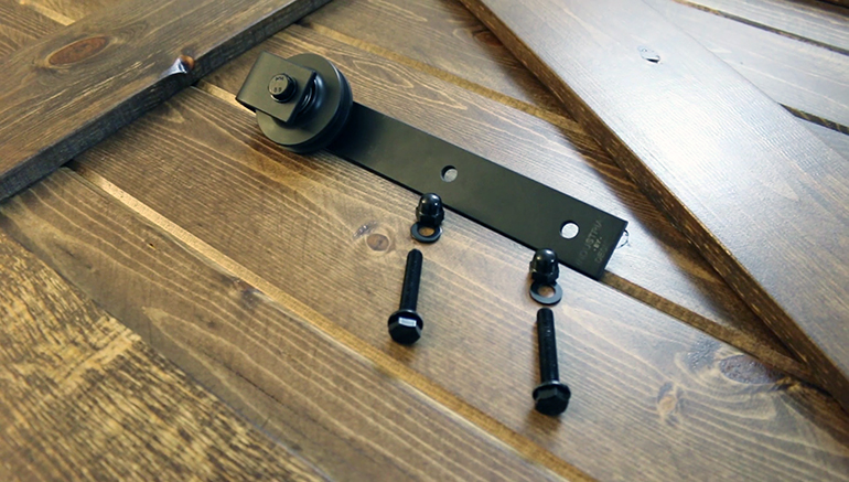 Here S Everything You Need To Install One Of The 2 Casters Provided In 79 Sliding Barn Door Hardware Kit