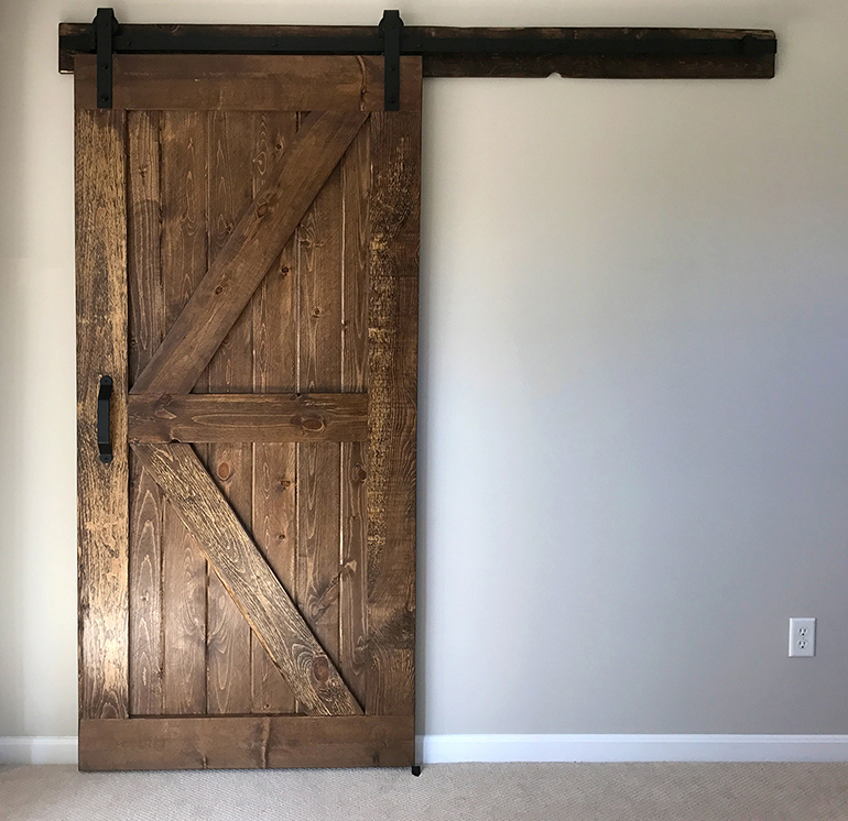 build and install a sliding barn door diywithrick. Black Bedroom Furniture Sets. Home Design Ideas