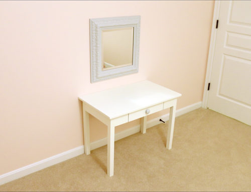 DIY Vanity for my Girls Shared Bedroom