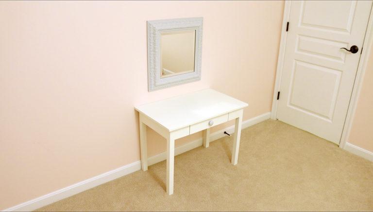 DIY Vanity for my Girls Shared Bedroom