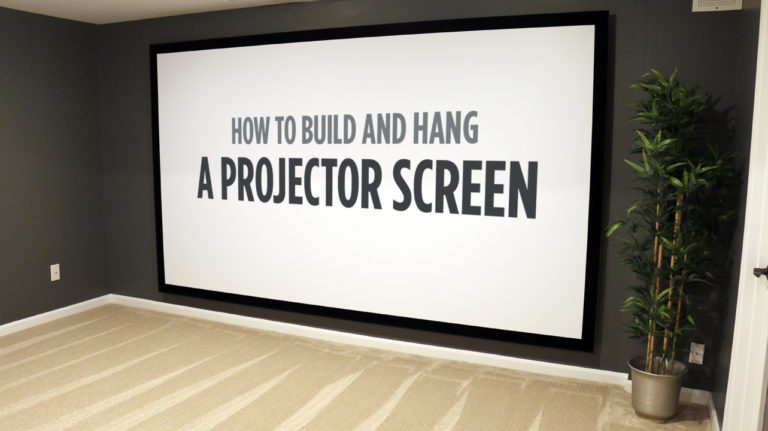Read more about the article How to Build and Hang a Projector Screen