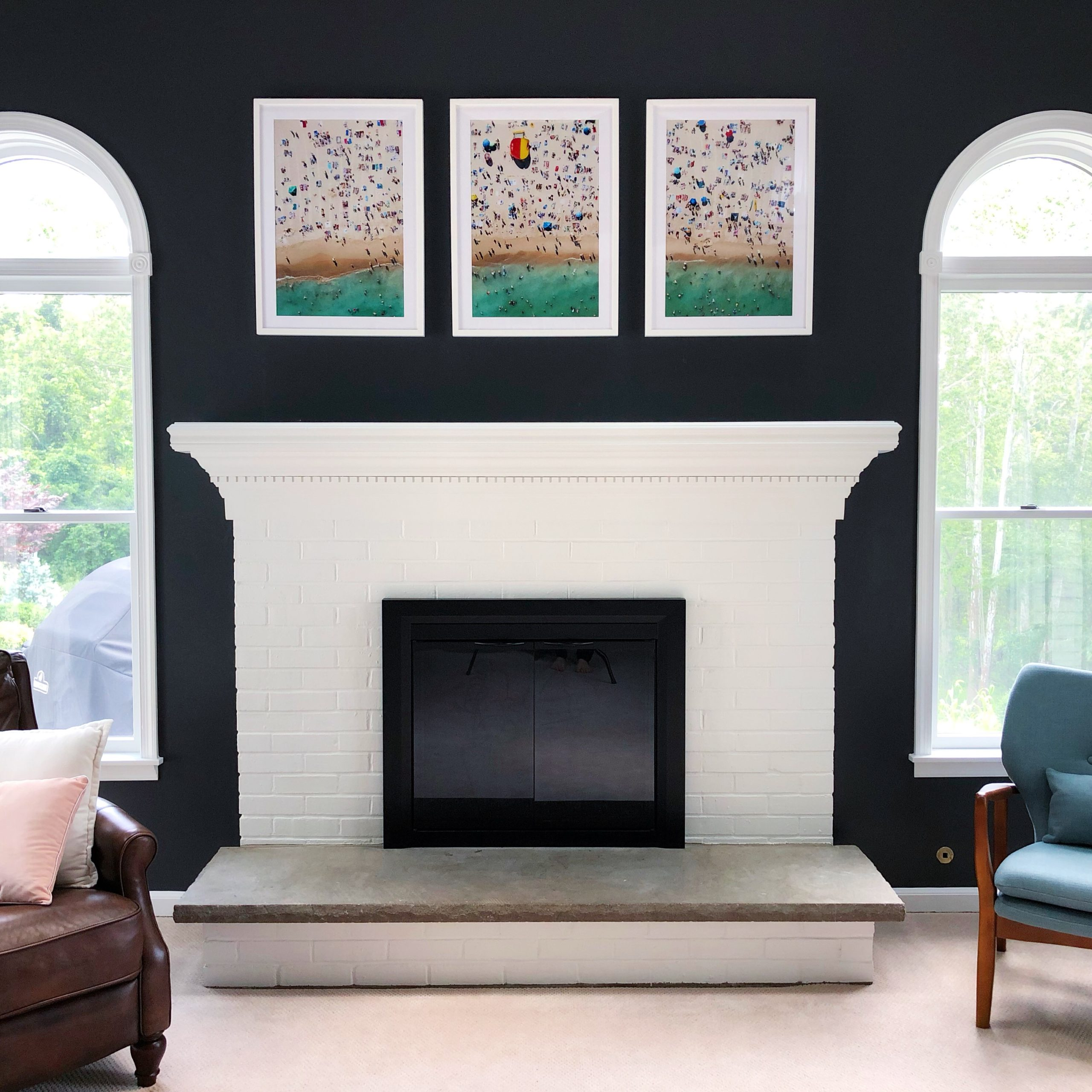 How to Paint a Brick Fireplace and Mantle
