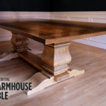 Build a Double Pedestal Modern Farmhouse Dining Table